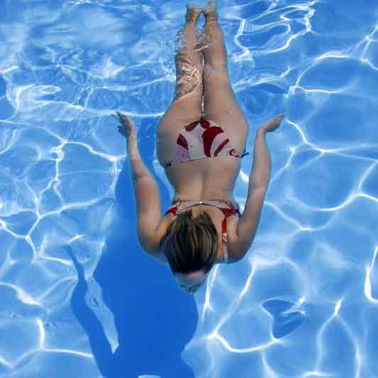 Riuscire a nuotare sott'acqua!